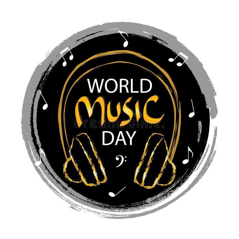World Music Day stock illustration