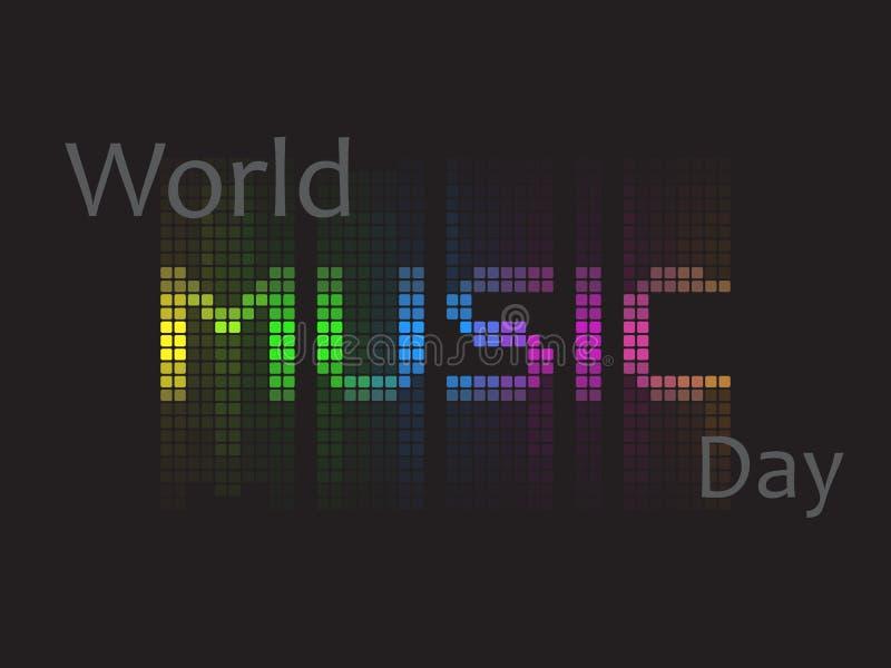 World music day vector illustration