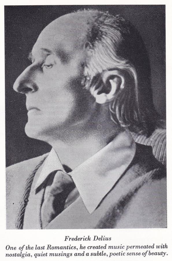 Black and white photo of Frederick Delius - English Composer 19th Century. The World of Music 1950s -  Frederick Theodore Albert Delius, CH, originally Fritz stock photography