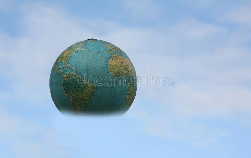 World in my hand stock photo