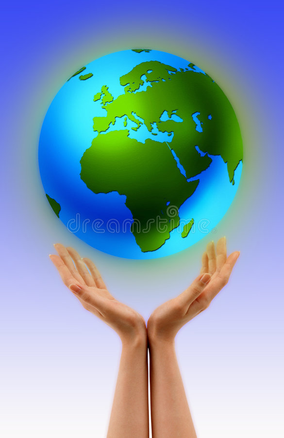 World in My Hands stock photography
