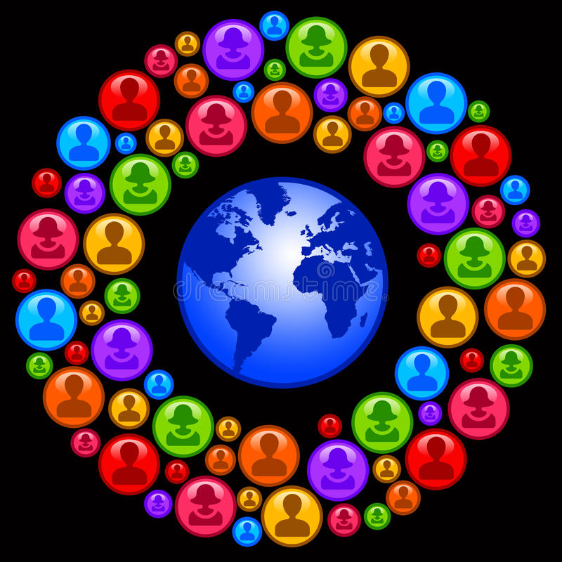 Download World network stock illustration. Image of blue, circles - 34372390