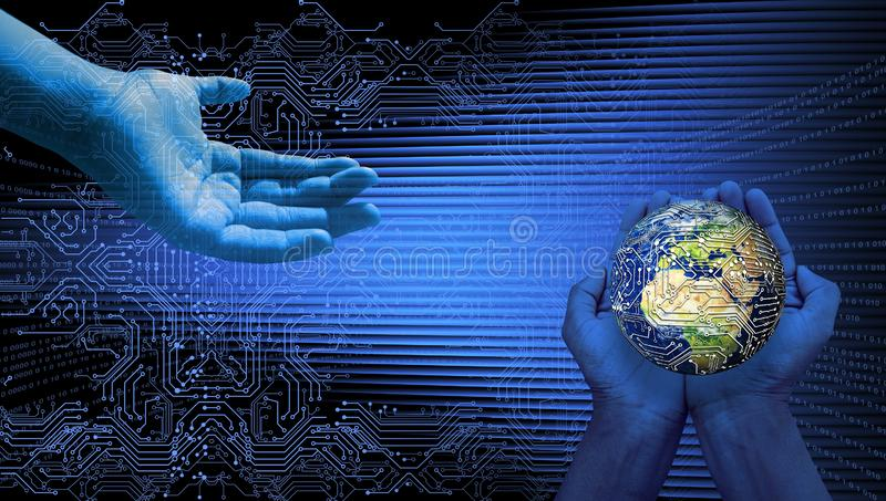 World network technology. technology communication . World network technology. technology communication. many uses for advertising, book page, paintings royalty free stock image