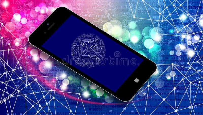 World network technology. mobile technology communication . World network technology. mobile technology communication. many uses for advertising, book page royalty free stock photo