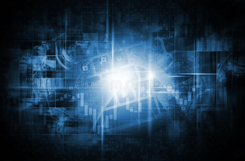 World of New Technology royalty free stock image