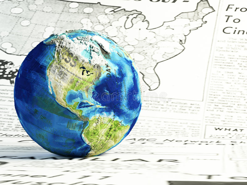 Download World news stock illustration. Illustration of planet - 7663361