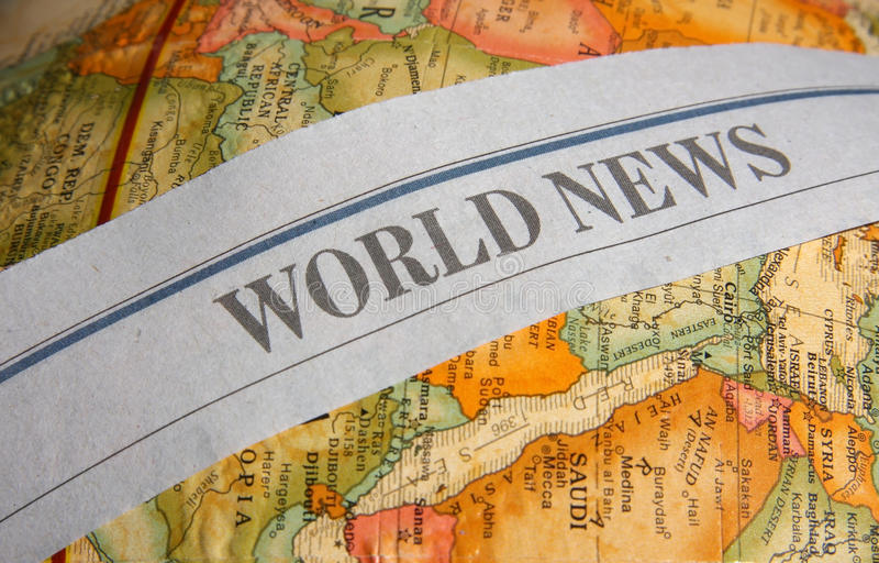 World news letters stock images