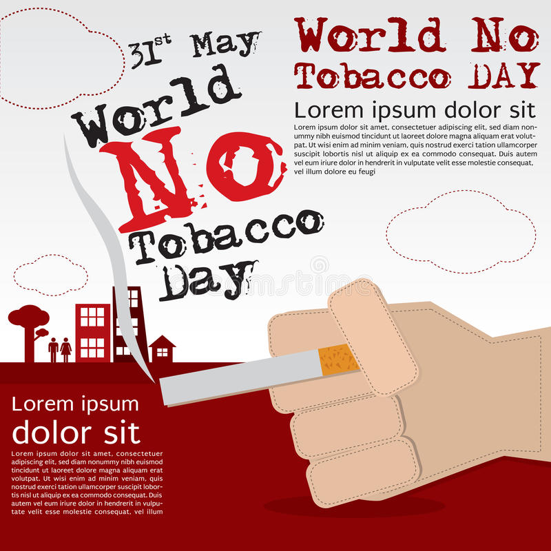 World No Tobacco Day. vector illustration