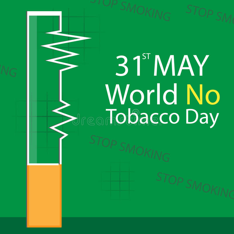 World No Tobacco Day vector stock illustration