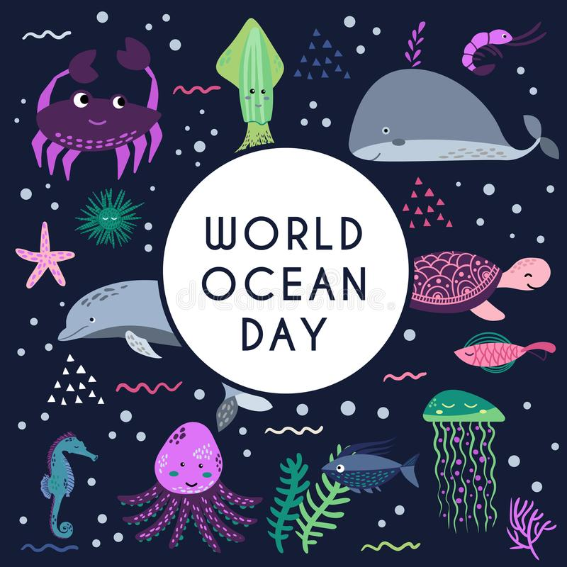 World ocean day. Element of image furnished by NASA stock illustration