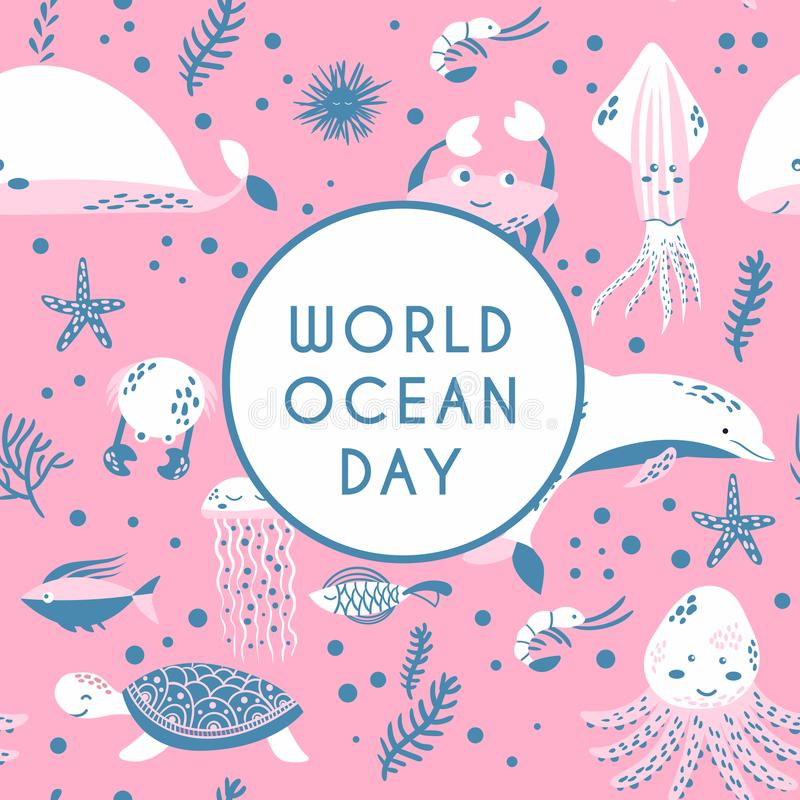 World ocean day. Element of image furnished by NASA royalty free illustration