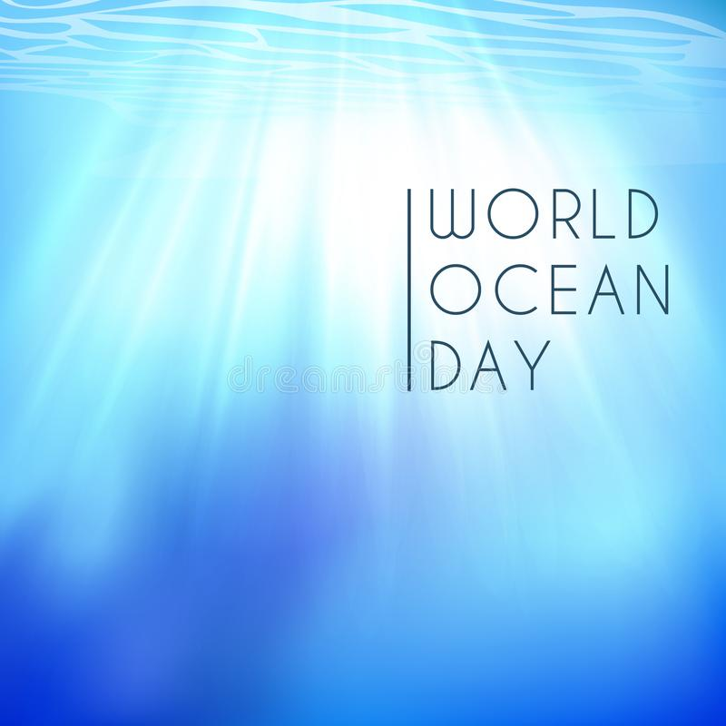 World ocean day. Element of image furnished by NASA vector illustration