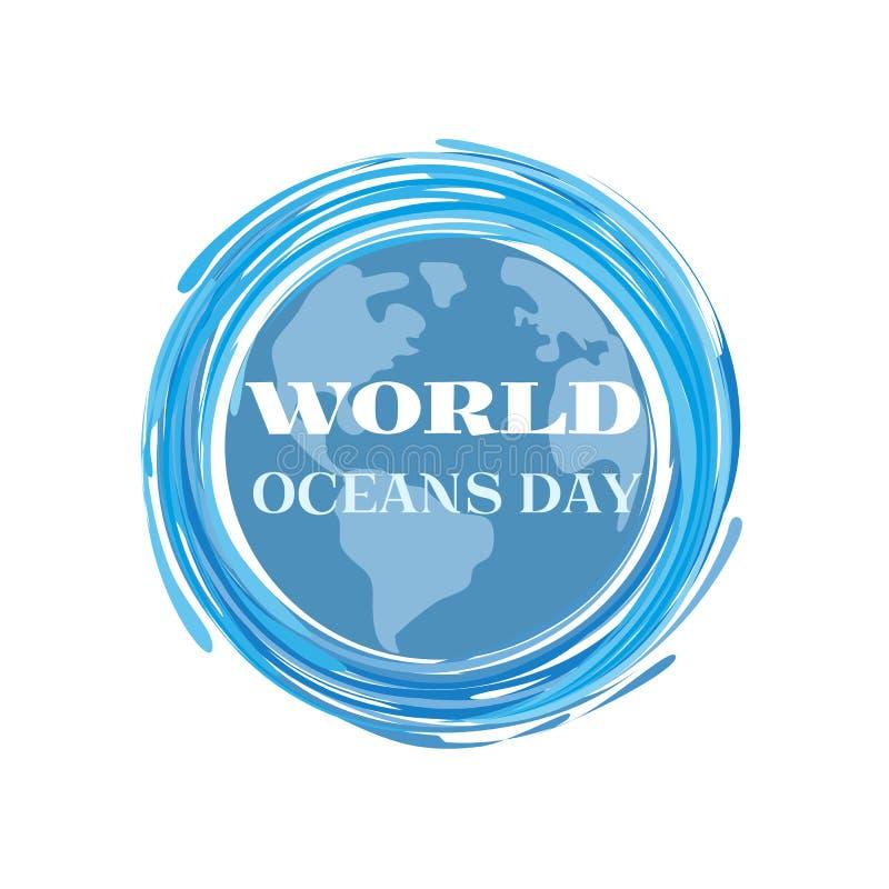 Download World oceans day stock vector. Image of habitat, international - 92610503