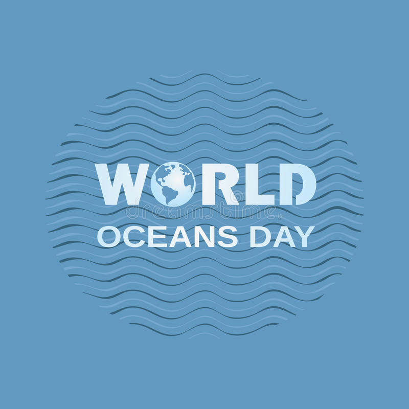 Download World oceans day stock vector. Image of earth, environment - 92610695