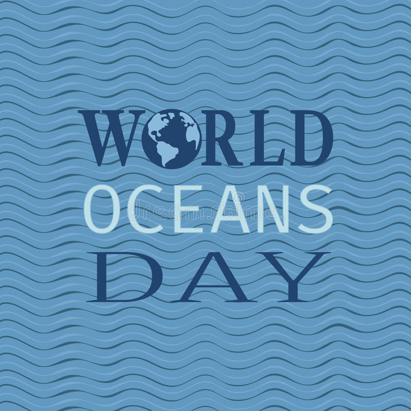 Download World oceans day stock vector. Image of june, international - 92610970