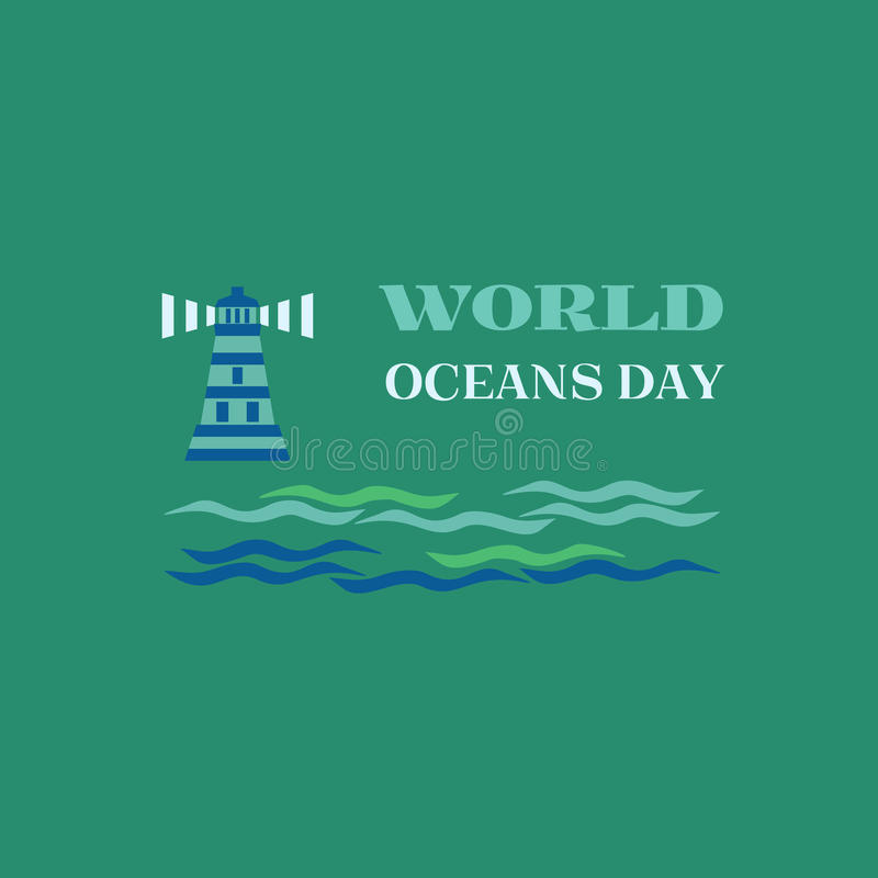 World oceans day royalty free illustration