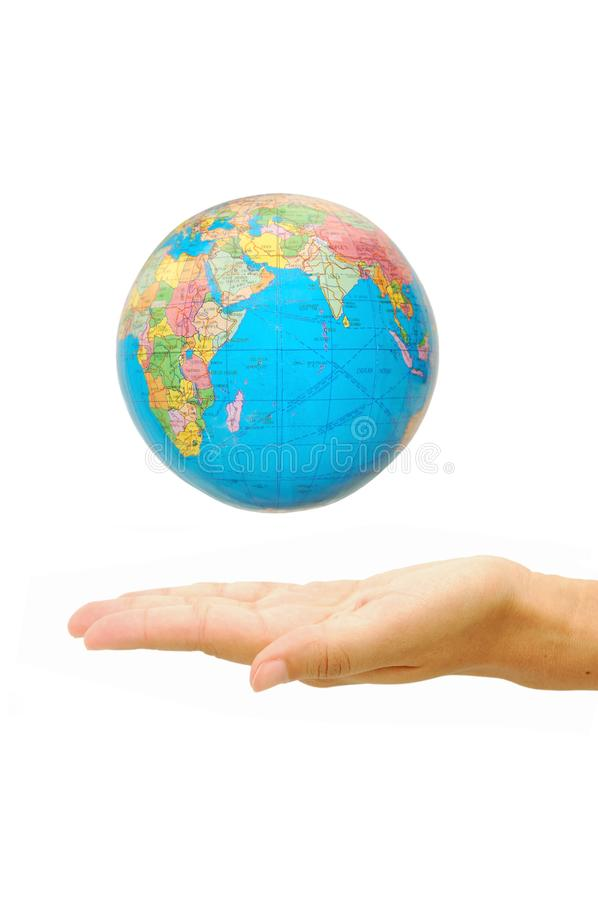 World in our hands royalty free stock photos