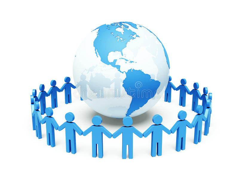 World partnership. 3d illustration royalty free stock images