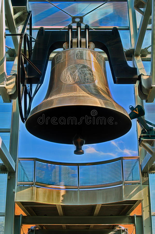 World Peace Bell. The Newport, Kentucky, World Peace Bell is one of more than twenty Peace Bells around the world. It weighs 30,000 kg (66,000 lb) and is 3.7 m ( royalty free stock images