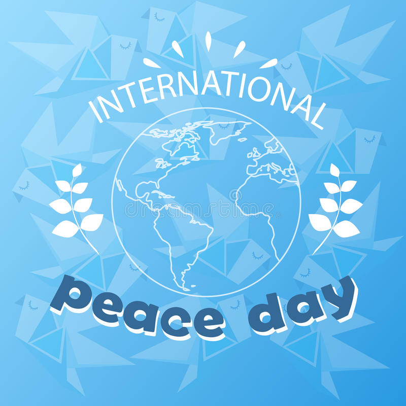 World Peace Day Earth International Holiday Poster Sketch stock illustration