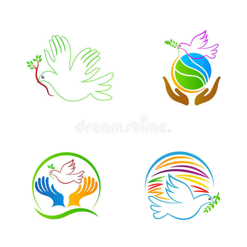 World peace dove vector illustration