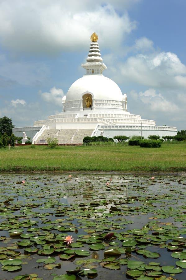 World Peace Pagoda. In Pokhara,Nepal royalty free stock photos