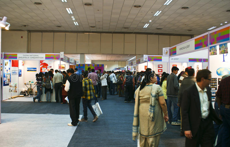 World Philatelic Exhibition-Indipex 2011 at Delhi stock image