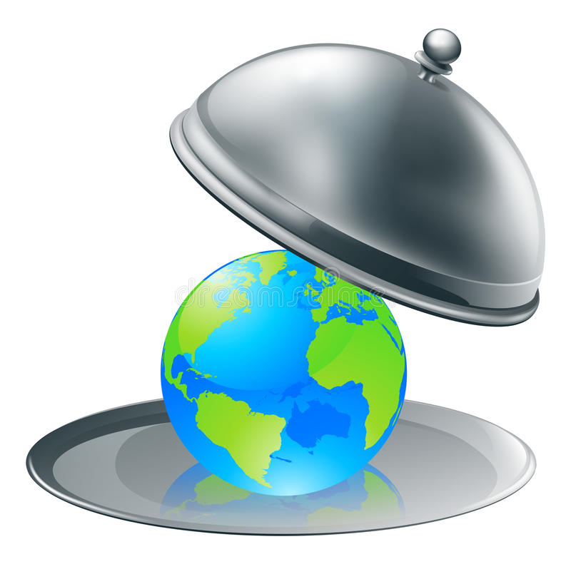 The world on a plate royalty free illustration