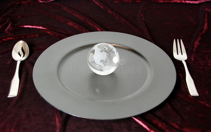Download The world on a platter stock image. Image of serving, etched - 7480237