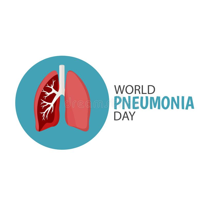 World Pneumonia Day stock illustration