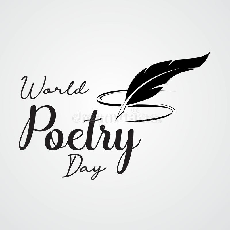 World Poetry Day. March 21. March Holiday Calendar. world poetry day sketch of a fountain pen and book.Vector illustration royalty free illustration