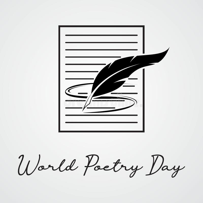 World Poetry Day. March 21. March Holiday Calendar. world poetry day sketch of a fountain pen and book.Vector illustration vector illustration
