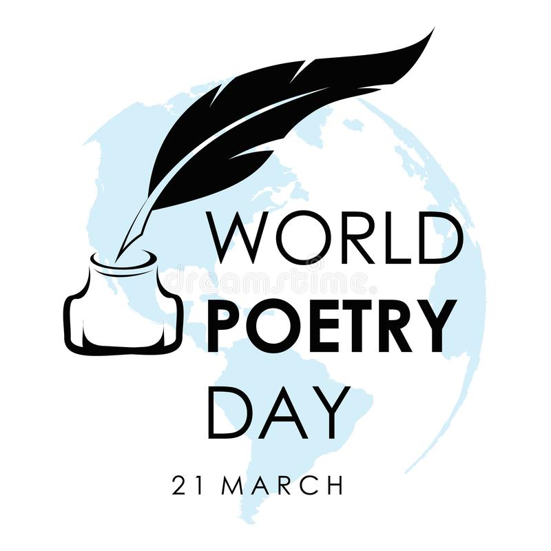 World Poetry Day. March 21. March Holiday Calendar. world poetry day sketch of a fountain pen and book.Vector illustration stock illustration