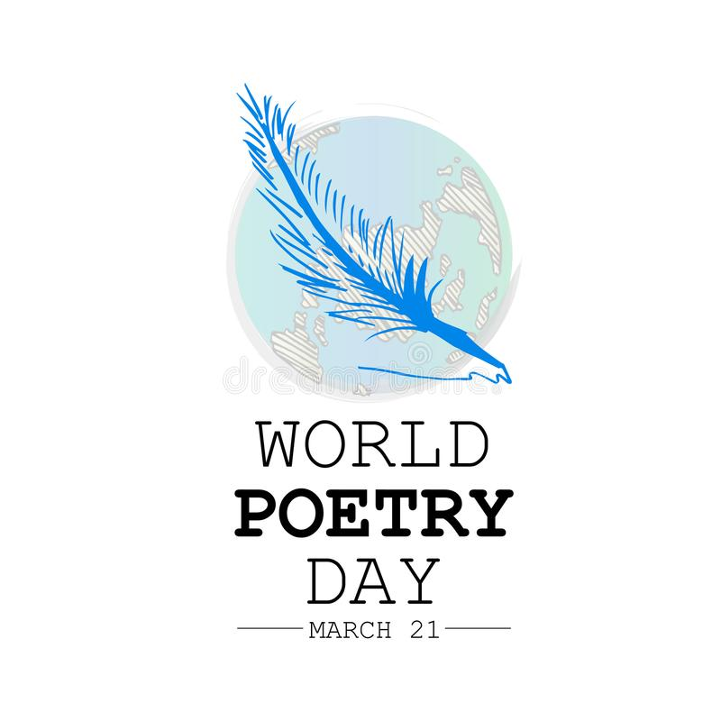 World poetry day. Greeting card royalty free illustration