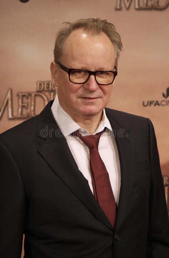 World premiere of the movie The Physician. DECEMBER 16, 2013 - BERLIN: Stellan Skarsgard - world premiere of the movie The Physician (Der Medicus), Zoo Palast stock photography