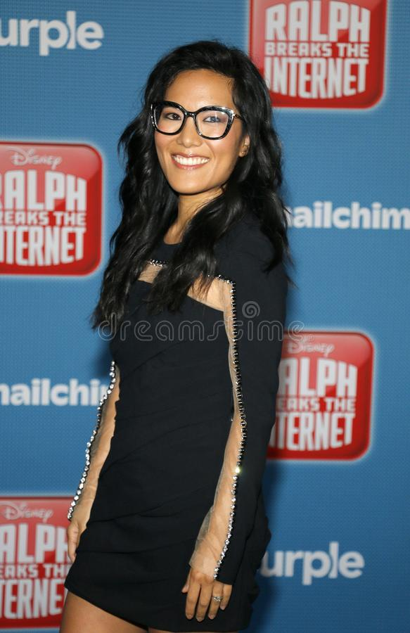 World premiere of `Ralph Breaks The Internet`. Ali Wong at the World premiere of `Ralph Breaks The Internet` held at the El Capitan Theatre in Hollywood, USA on royalty free stock image
