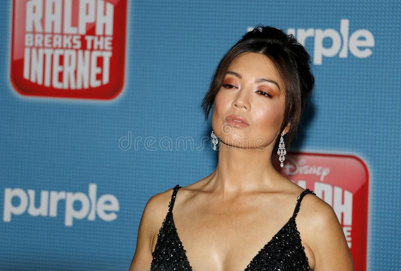 World premiere of `Ralph Breaks The Internet`. Ming-Na Wen at the World premiere of `Ralph Breaks The Internet` held at the El Capitan Theatre in Hollywood, USA royalty free stock photo