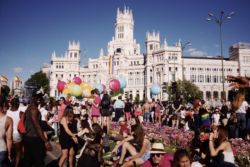 World Pride Madrid 2017 royalty free stock photo
