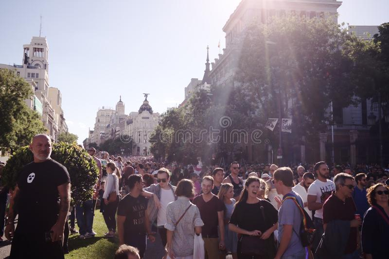 World Pride Madrid 2017 stock images