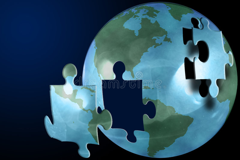 Download The world puzzle stock illustration. Illustration of planet - 453635