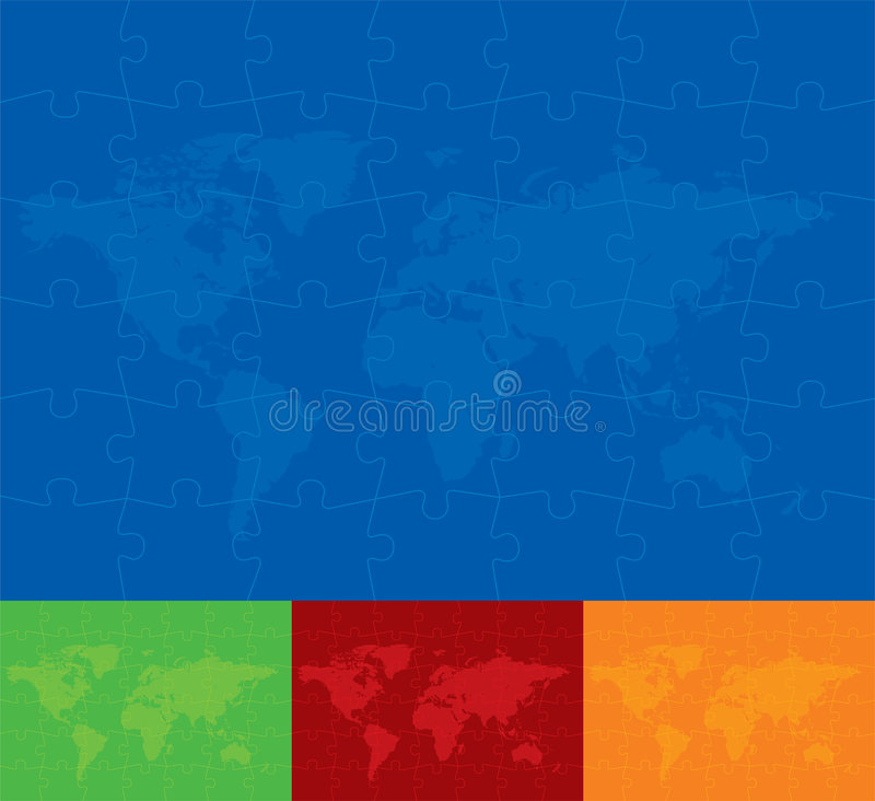 World Puzzle Background royalty free stock photos
