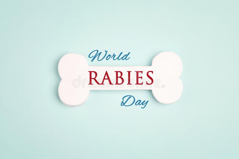 World Rabies Day concept with symbolic bone royalty free stock images