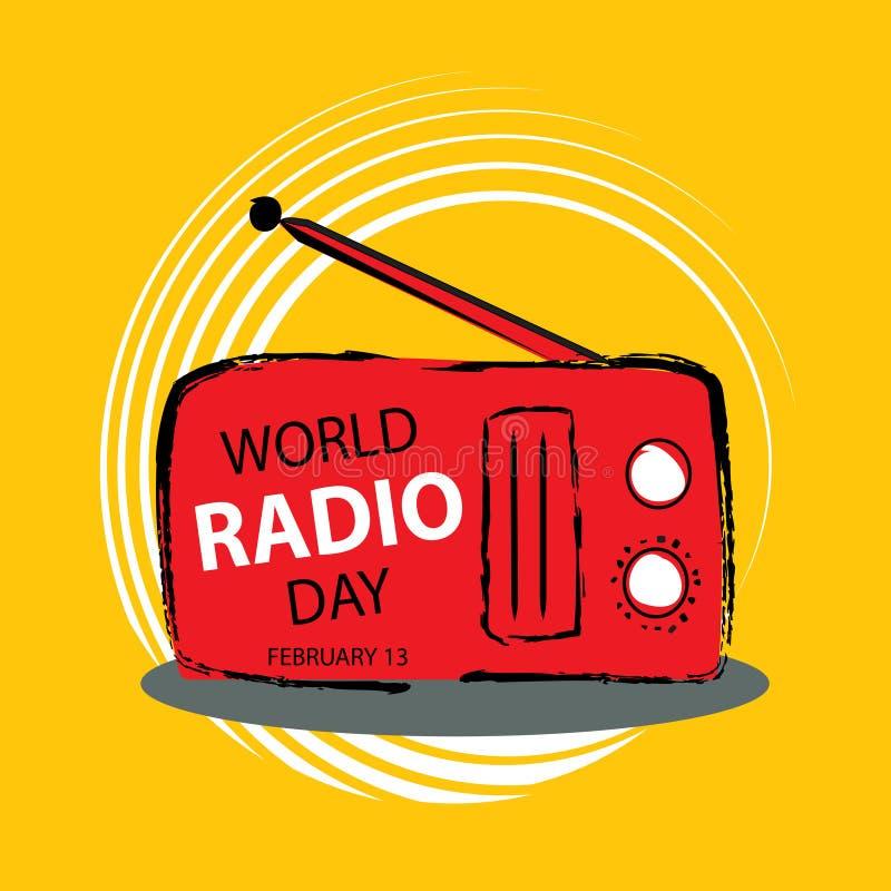 World radio day concept. February 13. royalty free illustration