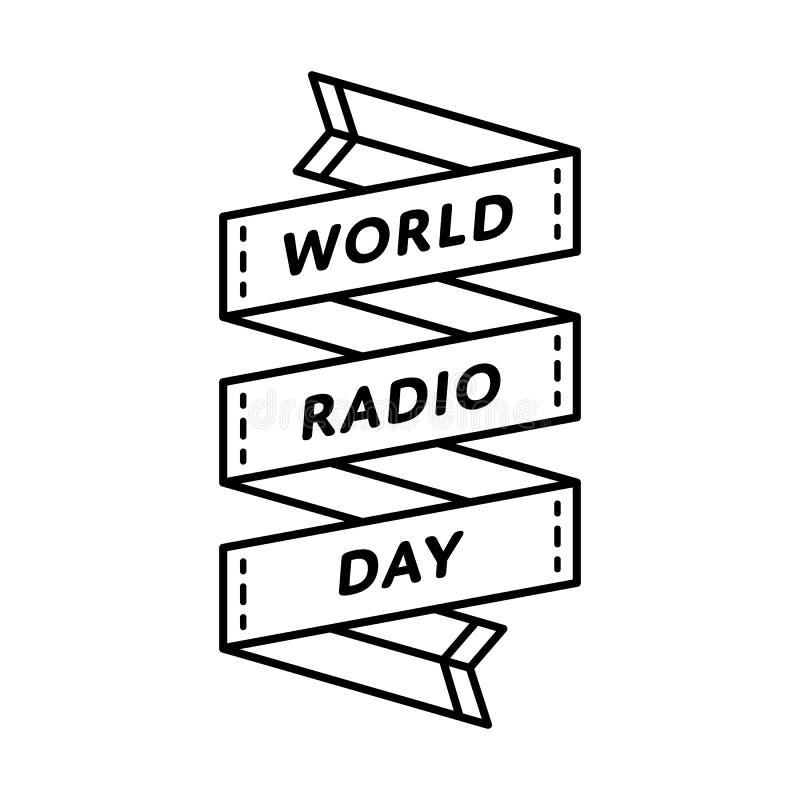 World Radio day greeting emblem royalty free illustration