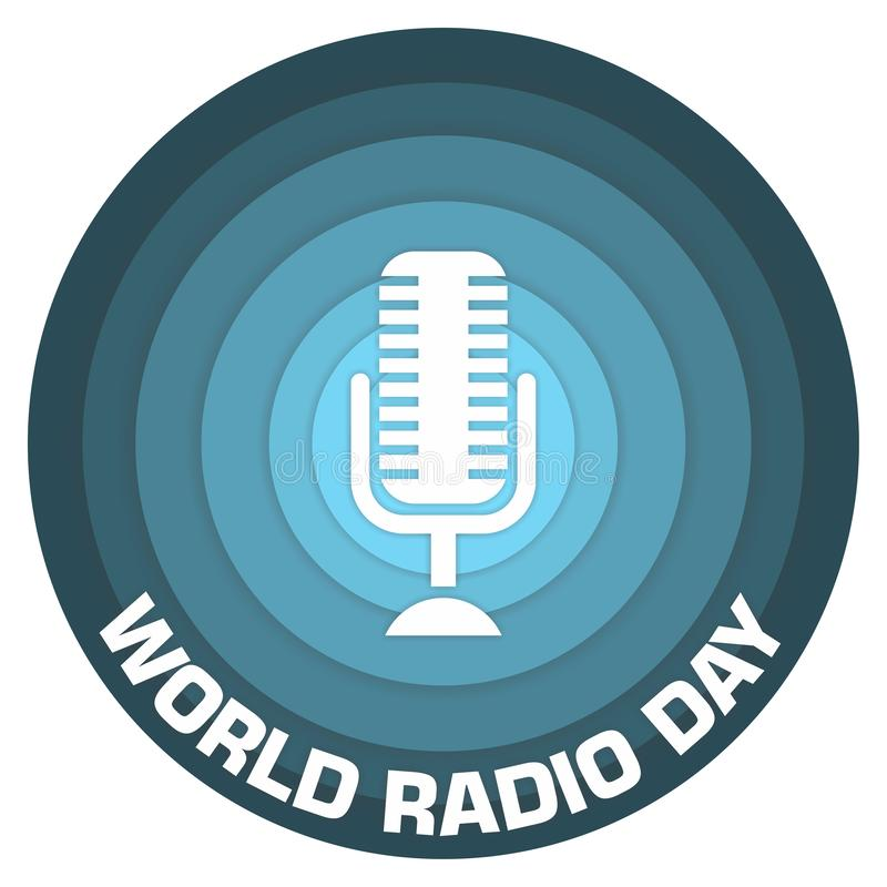 World radio day paper art concept design royalty free stock photos