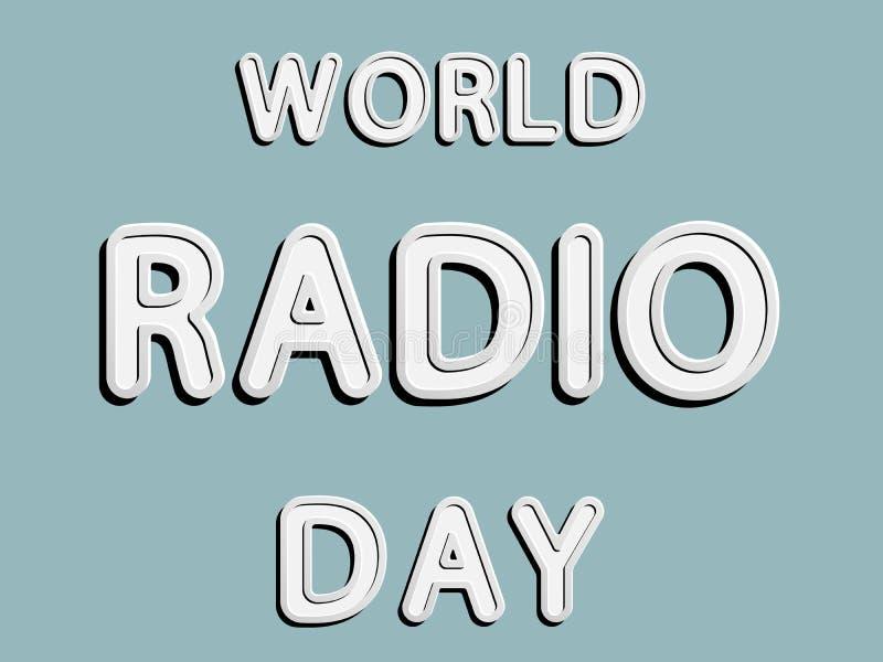 World Radio Day vector illustration