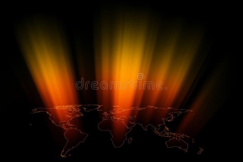 World Rays stock illustration