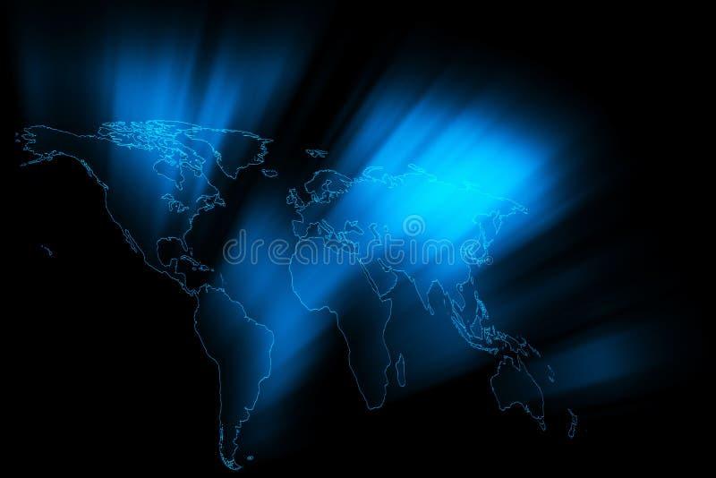World Rays vector illustration