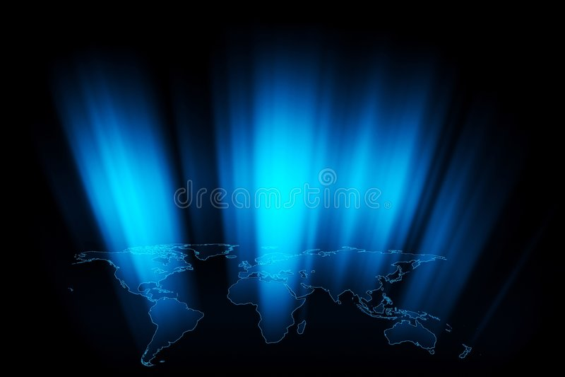 World Rays royalty free illustration