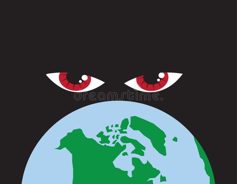 World Red Eyes vector illustration